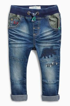 Buy Dark Blue Jersey Dinosaur Jeans (3mths-6yrs) online today at Next: United States of America