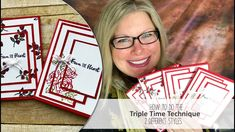 """Free PDF, Blog Hop and Contest Entry: http://stampwithtami.com/blog/2018/01/valentines-2018/ My share for today's blog hop is a set of cards featuring the """"Triple Time Technique"""". I'll show you how to create the 2 different styles (side aligned and center aligned) on today's video. You can download the measurements and supply list on the free pdf. Both cards use all of the same supplies, and feature techniques with the Real Red and Old Olive Stampin' Write Markers.  Today's Techniques…"""
