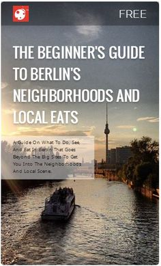 An awesome free guide to #Berlin's neighborhoods and local scene from @umarket and @buggl.