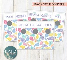 Paisley Style Rack Dividers  Paisley Printable
