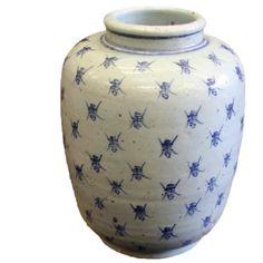 Porcelain Blue and White Jar ~ Chinese Longevity