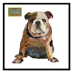 Cuadro collage Bulldog http://loladerek.es/para-casa/decoracion-paredes/cuadros
