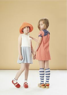Raspberry Plum is a newish British kids fashion label, they have expanded and developed their quirky slightly retro styling for spring/summer 2015 kidswear Toddler Girl Dresses, Little Girl Dresses, Young Girl Fashion, Kids Fashion, Kid Poses, Cute Outfits For Kids, Kid Styles, Textiles, Kids Wear
