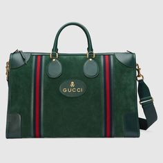 GUCCI Suede Duffle Bag With Web.  gucci  bags  silk  suede   567dc89d1c8b6