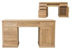 mobel solid oak console. Mobel Oak Twin Pedestal Computer Desk Solid Console