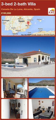 3-bed 2-bath Villa in Canada De La Lena, Alicante, Spain ►€193,950 #PropertyForSaleInSpain