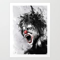 The Clown › Art Print by Balázs Solti