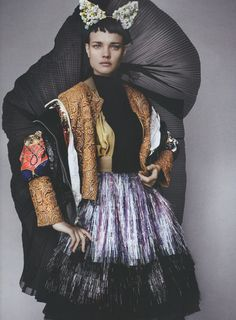 """Trash""; Natalia Vodianova photographed by Mario Testino for LOVE SS12"