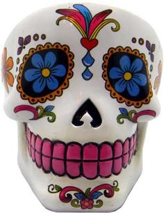 White Day of the Dead ash tray [IB470] - $14.95 : Wicca, Pagan and Occult Practice Mega Store - www.thetarotoracle.com
