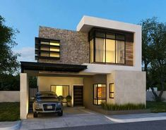 38 New ideas for house design architecture morden Modern Tropical House, Modern Small House Design, Minimalist House Design, Minimalist Architecture, Modern Architecture, Bungalow House Design, House Front Design, Morden House, Latest House Designs