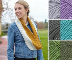 The Valley Yarns Petra Cowl is knit in luxurious 100% cashmere Valley Yarns Pocumtuck.