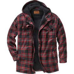Legendary Whitetails Men's Camp Night Berber Lined Hooded Flannel Shirt Jacket Hooded Flannel, Flannel Jacket, Mens Flannel Shirt, Shirt Jacket, Hooded Jacket, Casual Shirts, Casual Outfits, Men Casual, Picnic Outfits