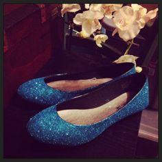 Something Blue Bridal Shoes - Wedding Flats via Etsy Wedding Flats 8f32c8c14
