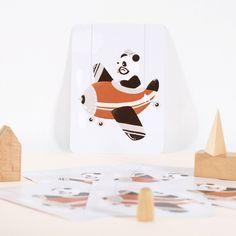 Petite carte Les Adorables Costumés le Panda (10,5 x 14,8