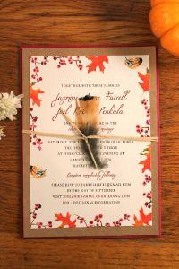 Watercolor wedding invitations, #nature #fall - GREAT invite and theme!
