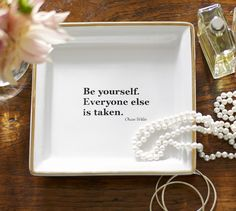 Quote Tray | Pottery Barn  Can make it on my own!  Lovely for the dressing room!