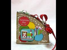 Circle book Tutorial-Mini Album Scrapbooking Tutorial-Natale Fai da te-Christmas Day - YouTube