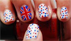 #london #nailart #nails #aussienails #polkadots #aussienails Sinful Colors, Mini Skirts, Nail Polish, Nail Art, London, Nails, Red, Beauty, Blue