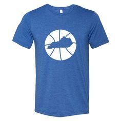 Kentucky Basketball State Tee   Royal Blue