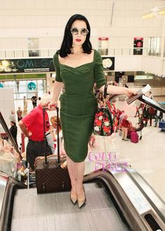 Dita Von Teese exits Cannes in major style!