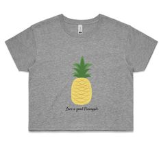 Love a good pineapple? Then you'll love this cute, ethically made crop designed by us and printed in Australia!