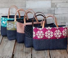Jeans and fabric market bags