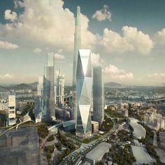 diagonal tower. SOM.