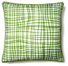 Textured 18x18 Outdoor Pillow, Green | Freshly Picked | One Kings Lane