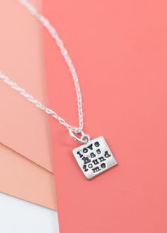 """February's """"Love has found me"""" charm for the charm bracelet.. Wearing this as a necklace today!"""