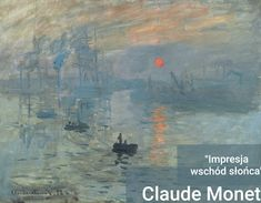 """Claude Monet - Impression, soleil levant, 1873 at Musée Marmottan Monet Paris France. The painting by Claude Monet which gave rise to the name of the Impressionist movement Listed in the book Paintings You Should Know"""" Monet Paintings, Landscape Paintings, Famous Impressionist Paintings, Impressionist Landscape, Famous Art Paintings, Unique Paintings, Seascape Paintings, Indian Paintings, Sunrise Painting"""