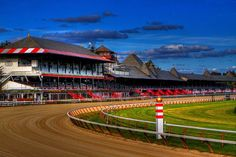 Saratoga Race Track Print by Don Nieman.  All prints are professionally printed, packaged, and shipped within 3 - 4 business days. Choose from multiple sizes and hundreds of frame and mat options.