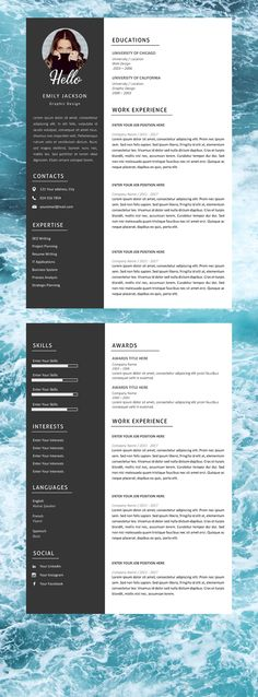 Your resume is one of your best marketing tools. The goal of your resume is to tell your individual story in a compelling way that drives prospective employers to want to meet you. Creative Cv Template Free, Modern Resume Template, Template Cv, Cv Design, Design Resume, Graphic Design, Infographic Resume, Cover Letter Template, Professional Resume