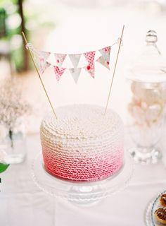 Pink #Ombre Wedding Cake   Stewart Leishman Photography   See more on SMP Weddings:  http://www.stylemepretty.com/2013/03/07/bellbrae-australia-wedding-from-stewart-leishman/