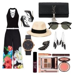 """""""Day out"""" by marlee497 ❤ liked on Polyvore featuring Ted Baker, Miss Selfridge, Oscar de la Renta, Dolce&Gabbana, Yves Saint Laurent, Eugenia Kim, Ray-Ban, Charlotte Russe, Roberto Cavalli and Marc Jacobs"""