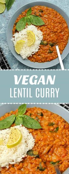 This creamy, vegan lentil curry is perfect for a weekday dinner. It's super easy to … – Food – This creamy, vegan lentil curry is perfect for a weekday dinner. It's super easy to … – Food – Vegan Lentil Curry, Vegan Lentil Recipes, High Protein Vegan Recipes, Vegetarian Curry, Vegan Dinner Recipes, Veggie Recipes, Whole Food Recipes, Best Vegan Curry Recipe, Red Curry Lentils