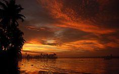 Marmalade Skies on the backwaters of Kerala.