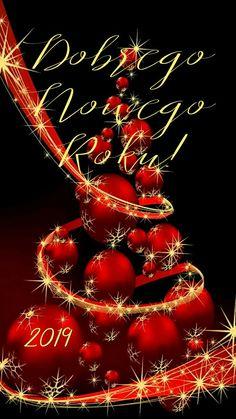 Kartka świąteczna 🍷🎅🌲🍷🎅🌲🎅🍷🌲 Christmas Wreaths, Christmas Tree, Happy New Year 2019, Seasons, Wallpaper, Holiday Decor, Cards, Holidays, Holiday Ornaments