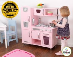 Kids Kitchen Set - Kidkraft Pink Vintage Kitchen