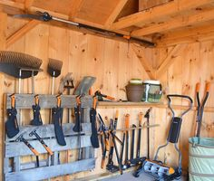 Need to organize your garage or shed? Check out these great DIY tool storage ideas. Learn how to build a garage shelf or tool organizer with Fiskars!