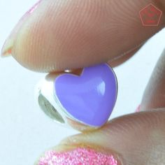 Abstract Blue Heart Shaped 925 Sterling Silver Anemal Pendant Jewelry P2691…