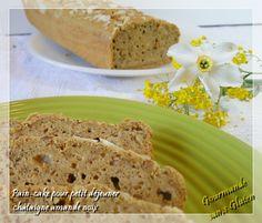 Gourmande sans gluten: Pain cake sans gluten, châtaigne, amande et noix