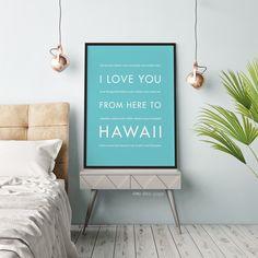 Hawaii Vacation Wall Art Gift Idea Hopskipjumppaper