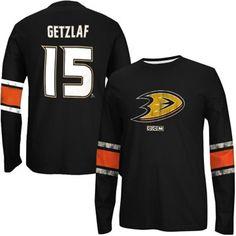 Fanartikel NHL ANAHEIM DUCKS Ryan Getzlaf Nr 15 Eishockey Name Number T-Shirt black C