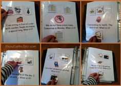 When Is It? Adapted Book for Children with Autism {visual multiple choice pages} by theautismhelper.com