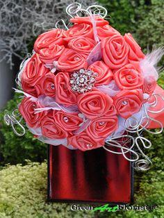 Coral Bridesmaids, Brooch Bouquets, Green Art, Artificial Flowers, Dublin, Rose, Shop, Plants, Handmade