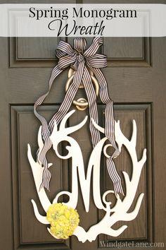 Spring Monogram Wreath - Windgate Lane