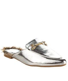 Qupid #Women's #Fashion Faux Shearling Lined Sliders Slip On Pointy Toe Fur Buckle Decor Slipper Sandals  #theladybuff #amazon.com