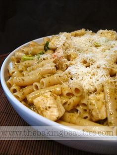 Gluten Free Penne with Pesto and Chicken (pg 190)  | The Everything Guide to Living Gluten-Free (Adams Media)