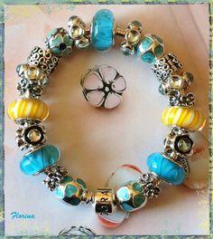 Blue & yellow Pandora.  Always a popular colour combination