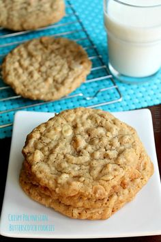 Crispy Polynesian Butterscotch Cookies are a cookie-lovers-dream! by asweetbaker.com on www.whatscookingwithruthie.com